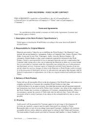 Recording Contract Template Recording Contract Template 24 Sample Current Pictures Best Of 4