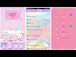 Pink theme cool bar Party Oppo coloros Theme Bizbash Oppo coloros Theme Hello Kitty pink Youtube