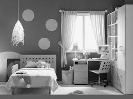 Bedroom:Dark Gray Modern Teenage Girl Bedroom With Corner Desk Also  Decorative Pendant Lamp Dark