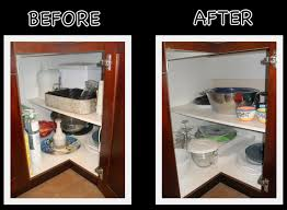 organizing corner kitchen cabinets