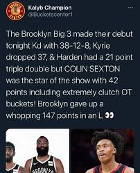 Nets' performance against the clippers shows the 'big three' can bring an nba title back to brooklyn. Kalyb Champion The Brooklyn Big 3 Made Their Debut Tonight Kd With 38 12 8 Kyrie