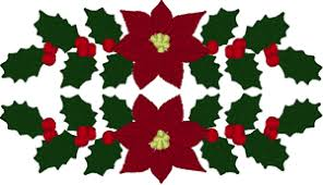 Poinsettia Designs Christmas Poinsettia Centerpiece Embroidery Design