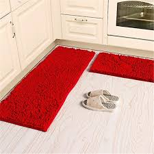 soft microfiber anti slip floor mat chenille rug bathroom rug set washable kitchen rug