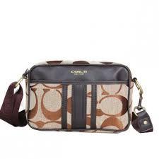 Coach Monogram Small Khaki Crossbody Bags DPM