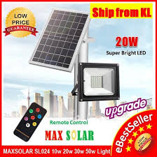20w 40x led solar street light flood light sensor outdoor garden lamp