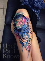 Dream Catcher Tattoo On Thigh 100 Dreamcatcher Tattoo Designs nenuno creative 44