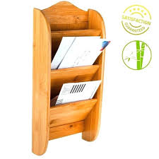 wood mail organizer wall mount plans bamboo wooden letter holder rack 3 slot s mounted key