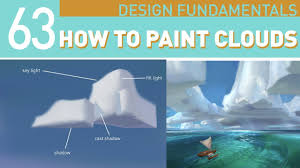 Clouds Design How To Paint Clouds Design Them From Reference Youtube