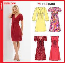 Knit Dress Pattern Enchanting New Look 48 Misses Knit Dresses