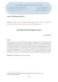 Pdf Non Native Native English Teachers