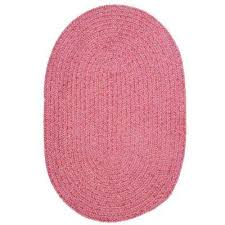 dover chenille pink 5 ft x 7 ft oval braided area rug