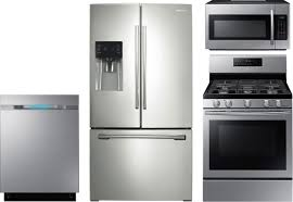 Gas Kitchen Appliance Packages 4 Piece Kitchen Package With Nx58h5600ss Gas Range Rf263beaesr