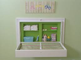 Changing table alternative: Built-in, fold-down changing table