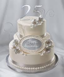 25th Wedding Anniversary Cake Silver Anniversary I Do Wedding