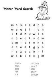 Small Picture Winter Word Search Holiday word search Holiday words and Word