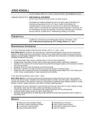 Resume Example Mechanical Maintenance Engineer Cover Letter
