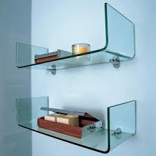 bathroom tempered glass shelf: glass shelves bathroom wall shelf white color single layer tempered glass shelf font b wall b