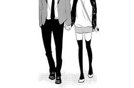 anime holding hands and walking.  Walking Manga Couple And Anime Image To Anime Holding Hands And Walking