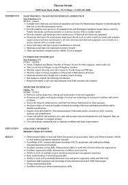 Telecom Resume Examples Telecom Technician Resume Samples Velvet Jobs 11