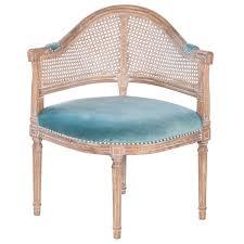 velvet barrel chair. Unique Barrel Fae French Antique Cane And Velvet Barrel Chair To
