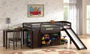 charleston storage loft bunk bed desk bundle natural wood