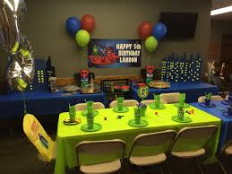Pj Mask Party Decoration Ideas One whole table of each color Birthday parties Pinterest Pj 49