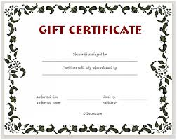 Fillable Gift Certificate Template Free Custom Gift Certificate Template Free Download Lissette