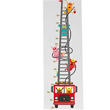 Amazon Com Cute Rabbit Fireman Cartoon Fire Truck Height