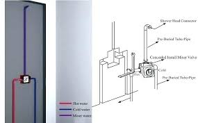 shower mixing valve installation mixer instructions studfast concealed