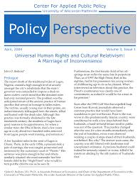 universal human rights and cultural relativism a marriage of  universal human rights and cultural relativism a marriage of inconvenience pdf available