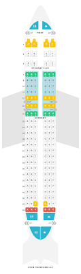 United Airlines Airbus A320 Seating Chart Seat Map Airbus A320 320 United Airlines Find The Best
