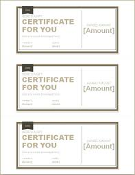 Microsoft Word Gift Certificate Templates Birthday Gift Certificate Template Voucher Microsoft Word