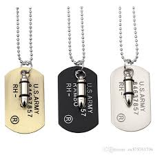 whole fashion design men charm vintage antique dog tag pendant necklaces military card filling pieces personality men s necklaces personalized pendant