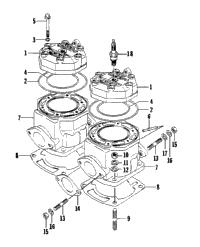 1995 arctic cat zr 580 efi 95zrb oem parts babbitts arctic cat cylinder and head assembly