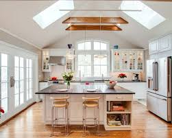 lighting a vaulted ceiling. Photo Of A Medium Sized Traditional Single-wall Kitchen/diner In New York With Lighting Vaulted Ceiling I