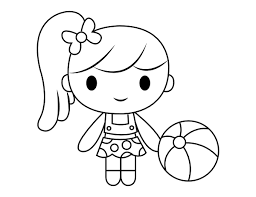 Free printable summer coloring pages. Printable Summer Girl Coloring Page