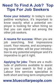 Tips For Job Seekers Need To Find A Job Top Tips For Job Seekers Perth Blue Collar