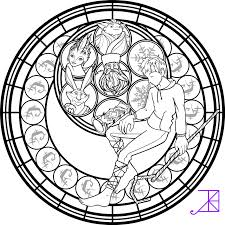Stained Glass Coloring Pages With Jack Frost Stained Glass Coloring