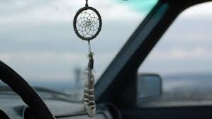 Dream Catchers For Your Car View Of Dream Catcher Hanging From Rearview Mirror Inside Car 63