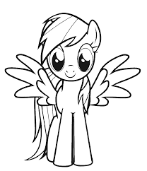 Small Picture Print Download Colorful Rainbow Dash Coloring Pages to Extend