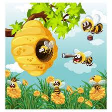 Resultado de imagen para panal de abejas animado