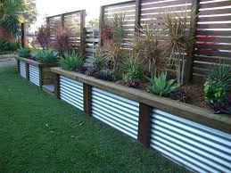 image of sheet metal fence designs ideas