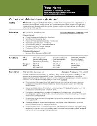 20 Entry Level Administrative Assistant Leterformat