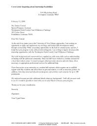 Email Cover Letter Format For Internship Letter Idea 2018