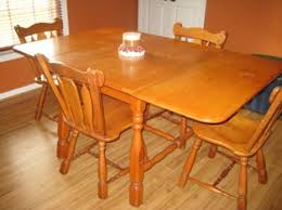 1900 s hard rock maple dining table set antique appraisal