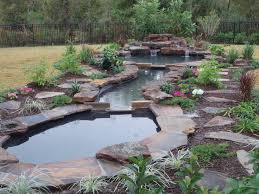 Small Picture Natural Pond Landscaping Home Garden Ideas Large Garden Pond