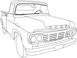 Old Truck Coloring Pages Gang Rapper Vintage Pickup Drawing – felixbot