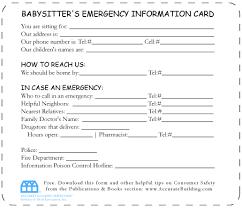 babysitter information sheet printable babysitting information sheets basitter information sheet template