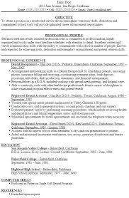 Objective For Resume Dental Assistant Job Objective Dental Assistant