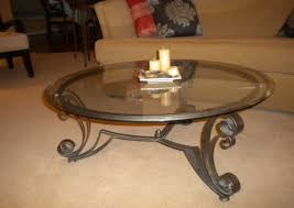 stylish iron and glass coffee table and coffee tables decor wrought iron and glass table candle throughout
